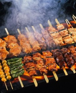 Mixed grill of barbecued meats such as Kebab and Shish taouk