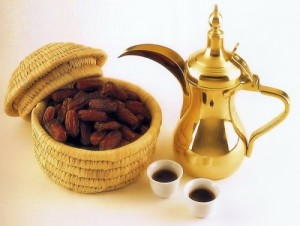 Arabic coffee with taste of cardamom