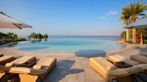 Infinity Pool at Kempinski Ishtar Dead Sea