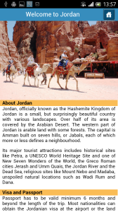 Android App of Petra Nights Tours