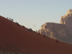 Scrambling, Hiking and Playing the sand dunes at Wadi Rum Desert