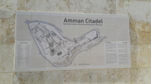 Amman Citadel Map