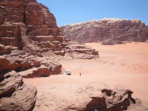 The amazing desert landscape in Wadi Rum, Jordan