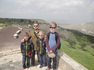 Family tour in Umm Qais Jordan