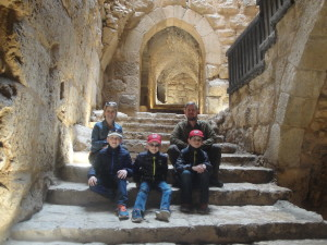 Family tour in Ajloun Castle Jordan